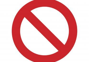 Afbeelding met een rood stopteken.
