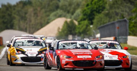 Mazda MX5 Cup in actie op het circuit