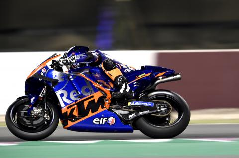 Oliviera driving the MotoGP for Team KTM Red Bull Tech with ELF