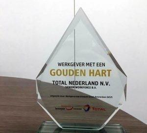Prijs werkgever met een gouden hart