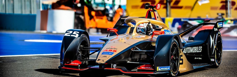 beeld Formule E TotalEnergiesracewagen van een race in Marrakesh