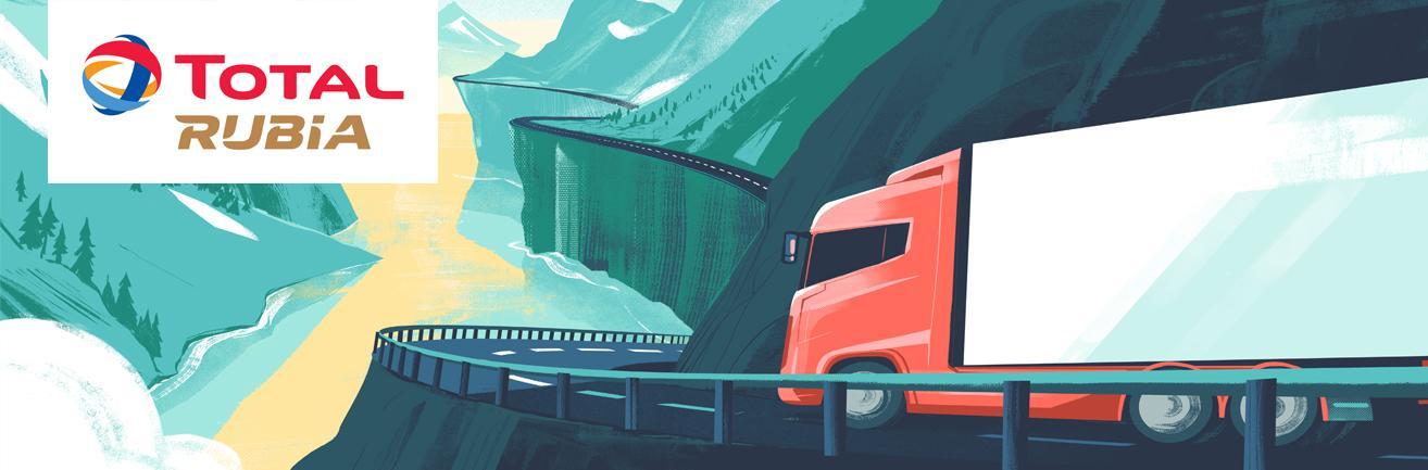 Total smeermiddelen transport motorolie RUBIA