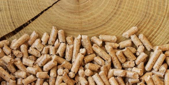 Houtkorrels, pellets van Total