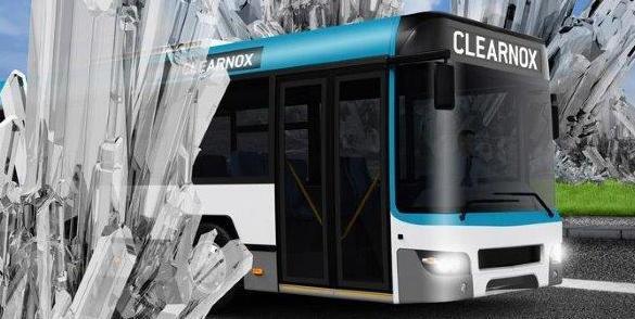 Bus met CLEARNOX erop